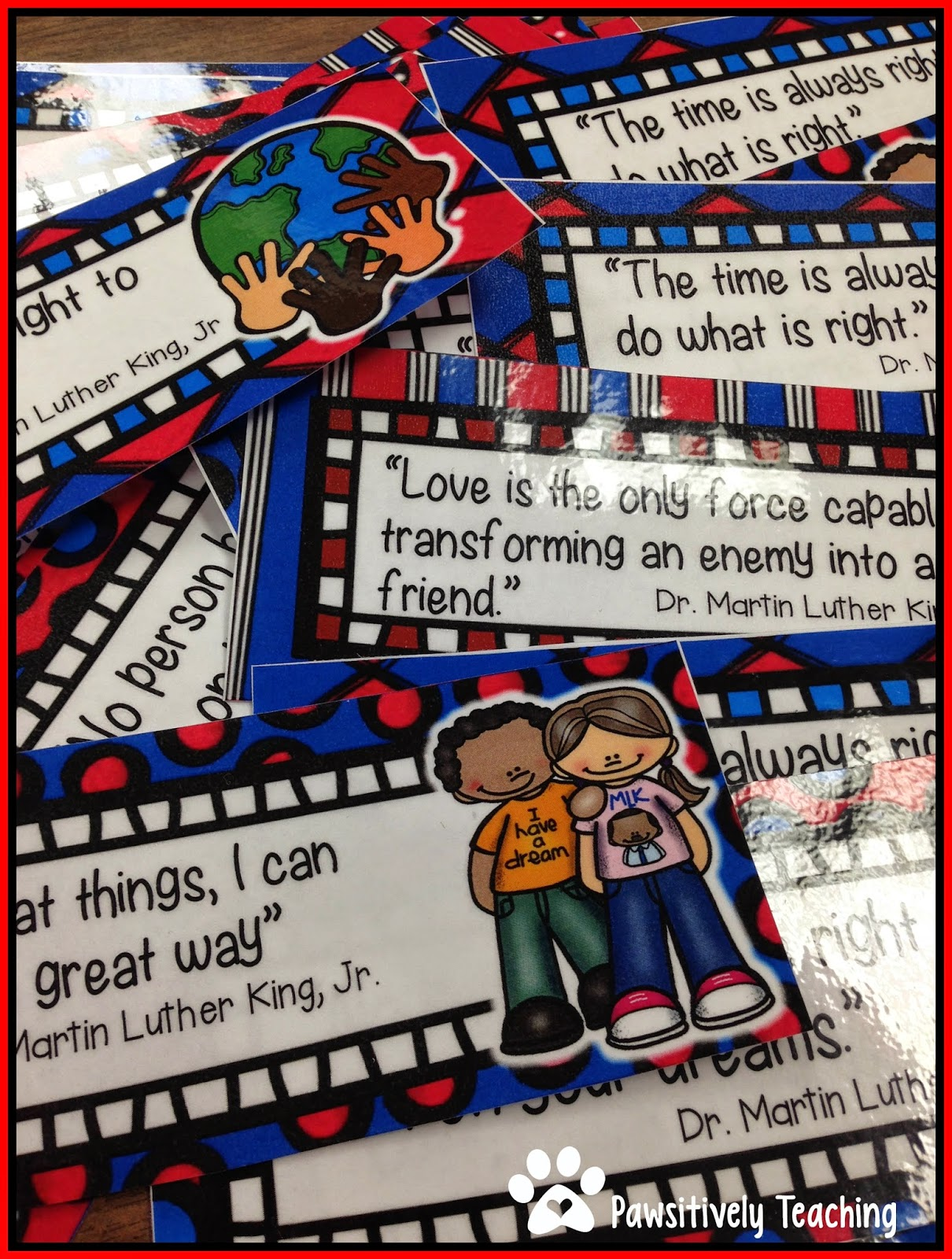 Classroom Freebies Too Mlk Bookmarks To Brighten The Day