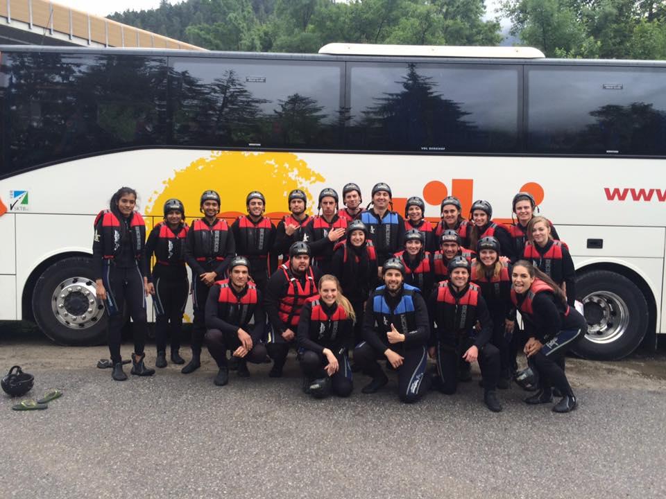 White Water Rafting Tyrol Contiki
