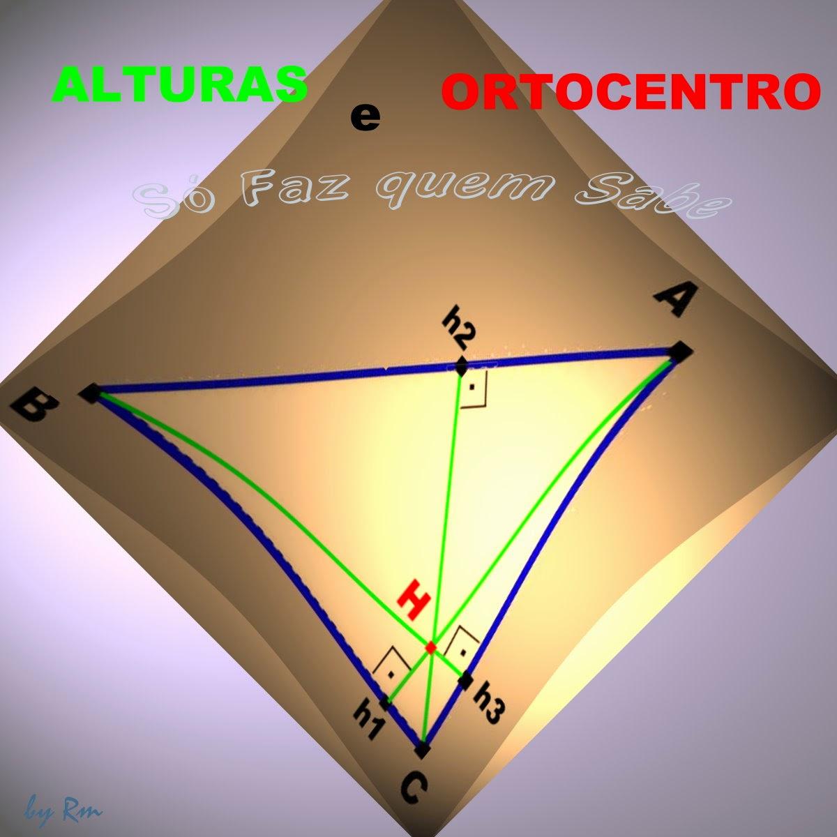 A intersecção das alturas de um trriângulo gera um ponto chamado Ortocentro do triângulo.