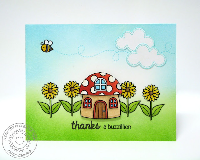 Sunny Studio Stamps Backyard Bugs Thanks A Buzzillion Card