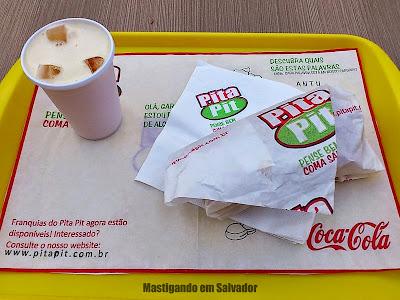 Pita Pit: Suco de Laranja e Pita embalada