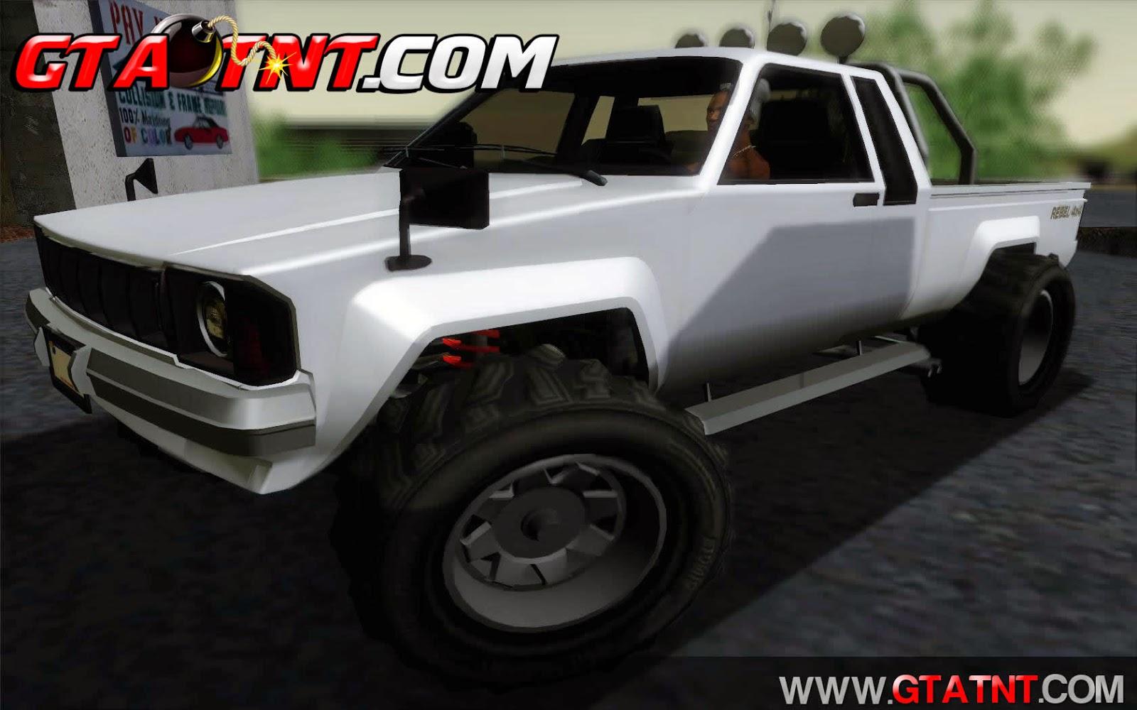 Karin Rebel 4x4 Convertido do GTA V para GTA San Andreas