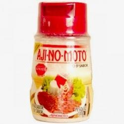 Foto da embalagem do Aji-no-Moto, o representante da substância Glutamato Monossódico.