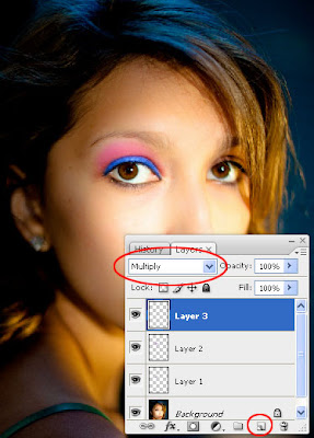 How to Apply Eye Shadow, Eye-liner and Mascara to Your Photo in Photoshop