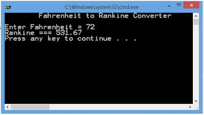 Fahrenheit to Rankine Converter