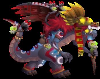 imagen del dragon sacerdote azteca adulto