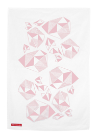 Pattern Play Screen Print Tea Towel in Pink