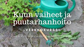 Sarin puutarhakurssit - elokuun tarjous