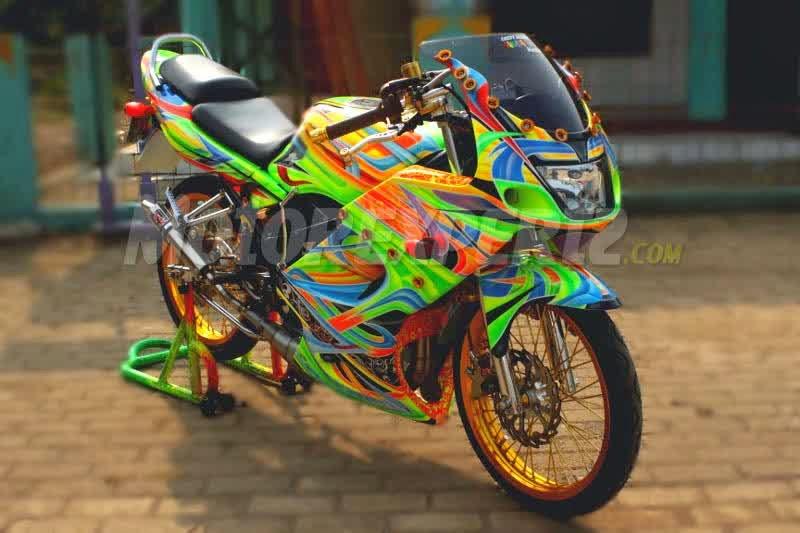 Modifikasi Motor Balap Kawasaki Ninja, Balapan Liar Ninja
