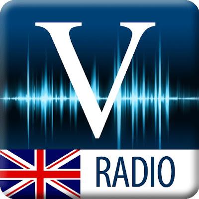 Logotipo de Vaughan Radio, Aplicación de radio para aprender Ingles