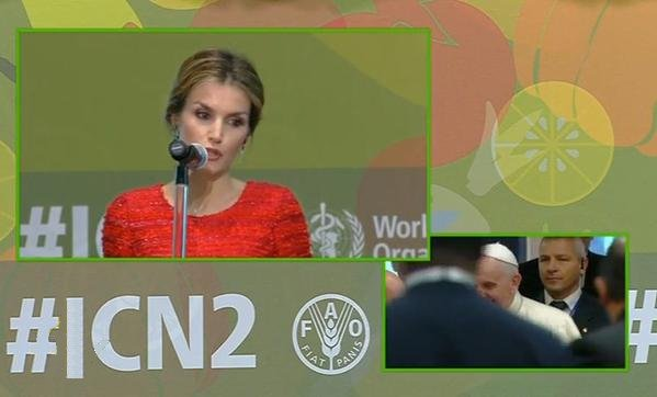 Queen Letizia of Spain attends FAO headquarter for the Second International Conference on Nutrition