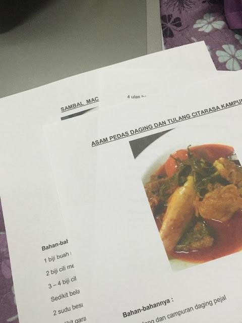 kompilasi resepi sendiri