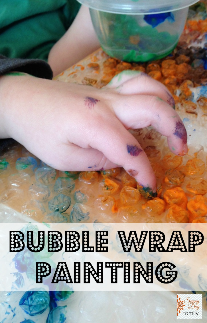 Painting on Bubble Wrap