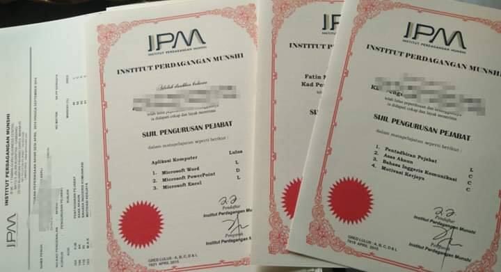 Tuntutan Sijil IPM