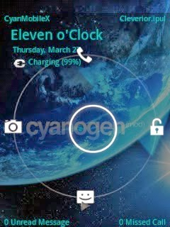cyanmobile x lockscreen pressed