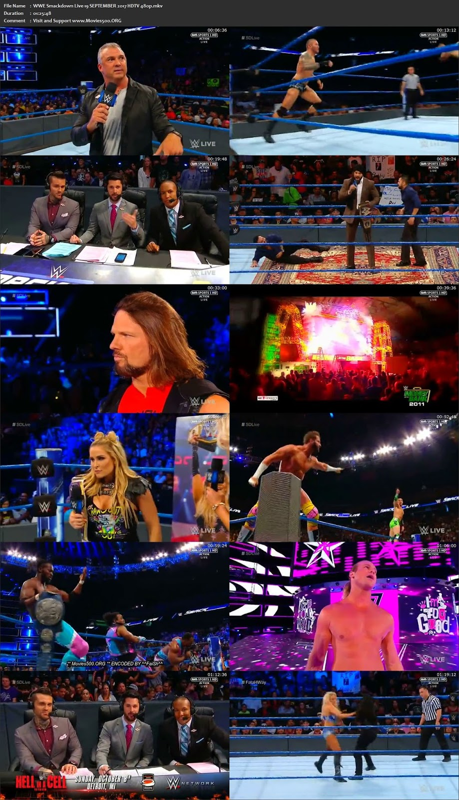 WWE Smackdown Live 19 SEPTEMBER 2017 HDTV 355MB Download 480p at createkits.com