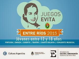 Está abierta la convocatoria para los Juegos Culturales Evita 2015