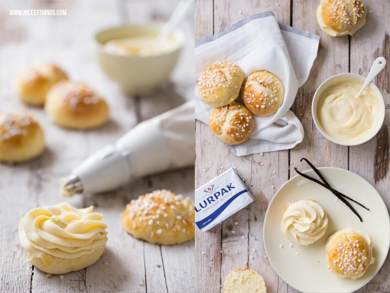 Mini Tartes Tropéziennes mit Lurpak Butter