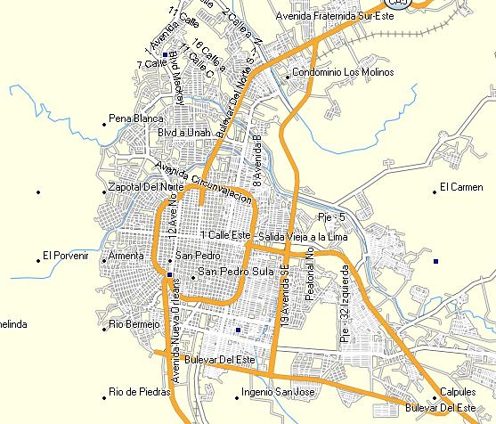 GPSTravelMapscom Honduras GPS Map