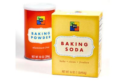 baking soda, baking powder, yeast