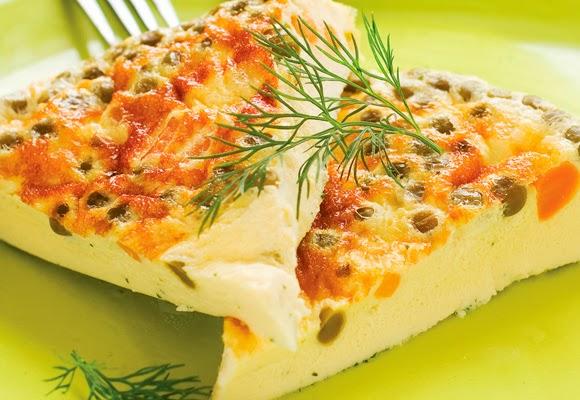 Omelete de cenoura com queijo light