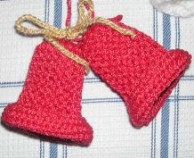 Knitting galore christmas bells for Knitted christmas bells