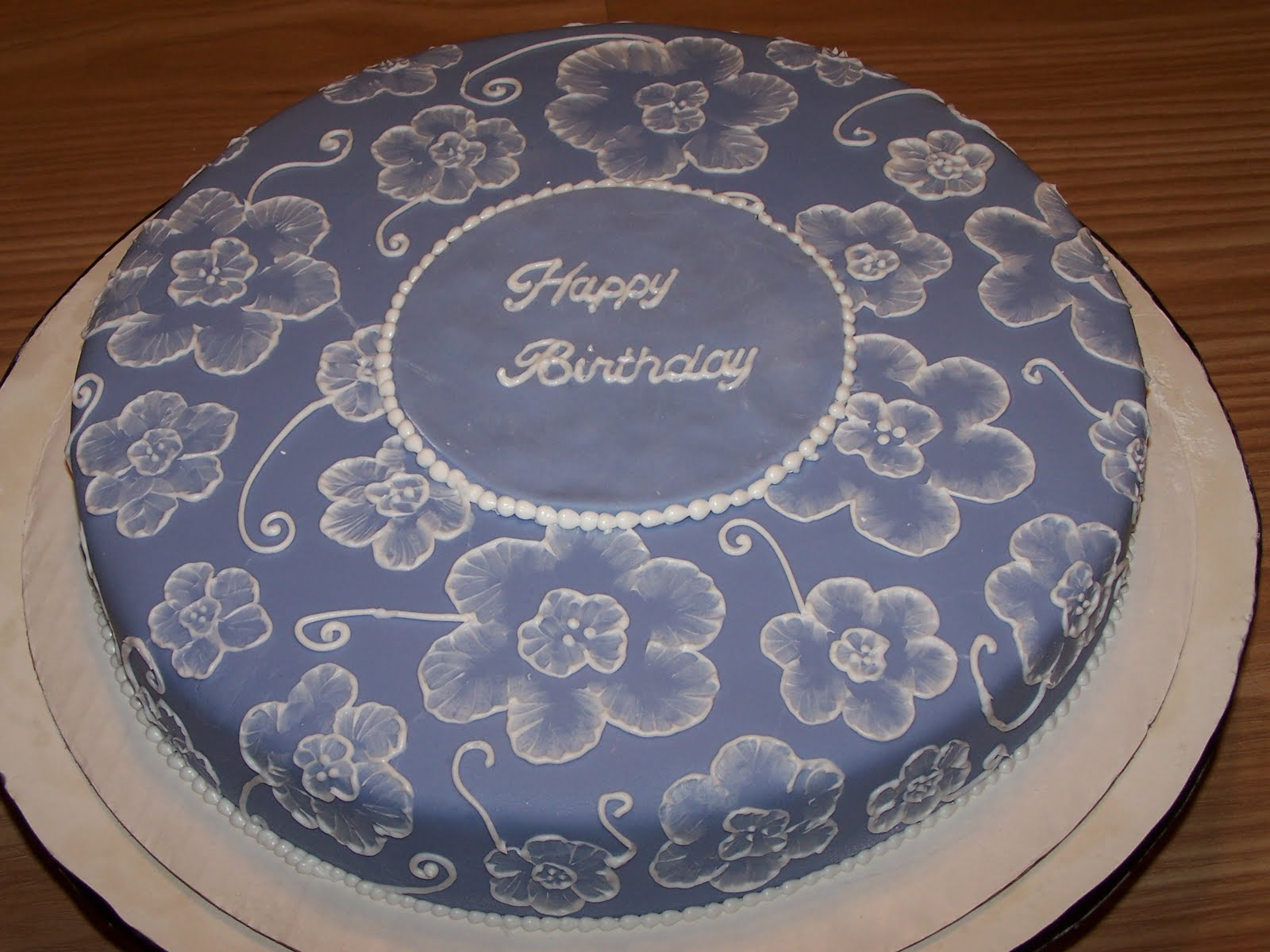Edee39s Custom Cakes Brush Embroidery Cake