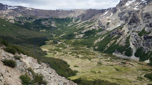 valle del Rucaco, sendero refugio frey laguna jackob,