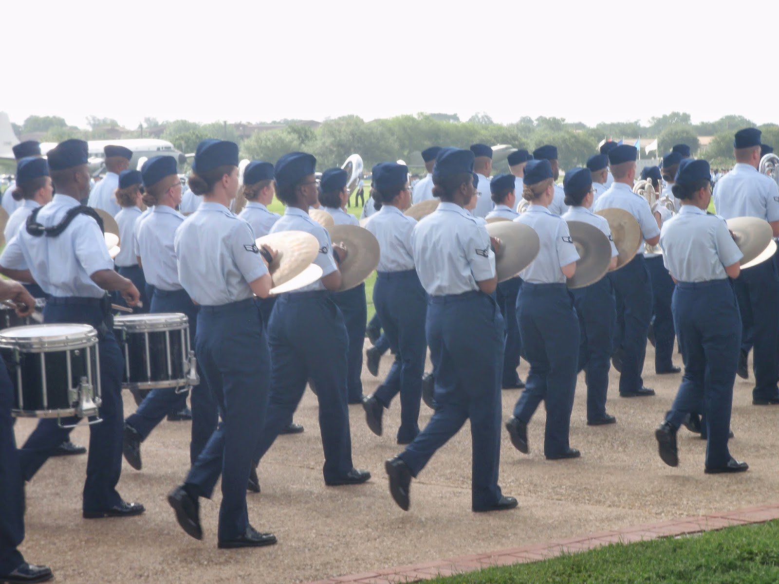 Air Force BMT Graduation Parade Band Flight