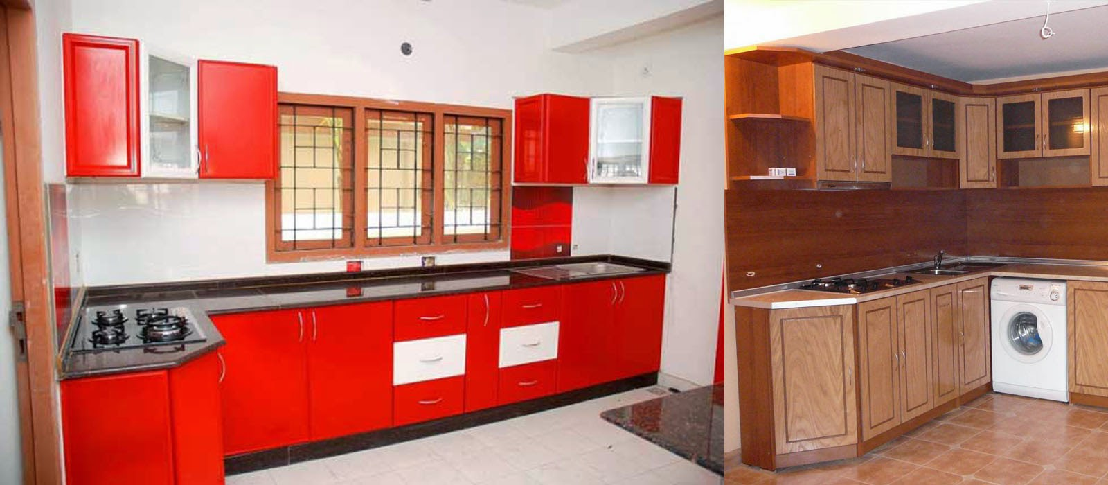 Aluminium fabrication kichen cabinets photos in kerala for Kitchen cabinets aluminium