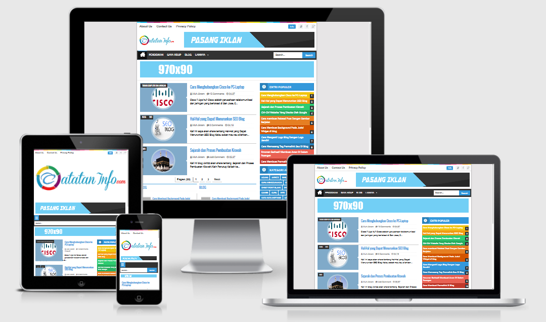 Seo Simple 2 Responsive Blogger Template