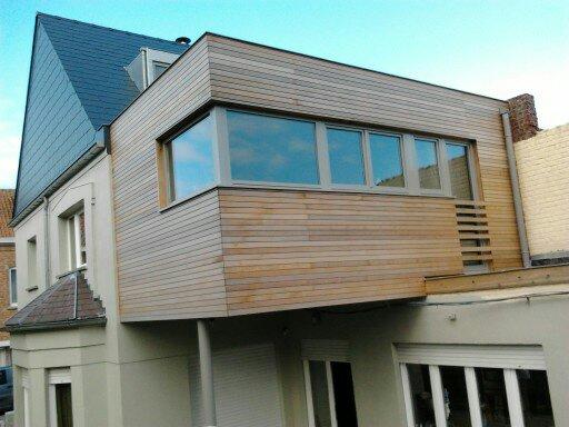 Lj woodworks annexe en ossature bois chassis bois for Annexe en bois pour maison