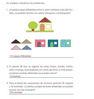 Respuestas Apoyo Primaria Desafíos matemáticos 4to grado Bloque I lección 13 Combinaciones