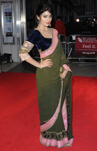 1227 - South Actress Shriya Saran at Midnight's Children' premiere at the BFI London Film Festival