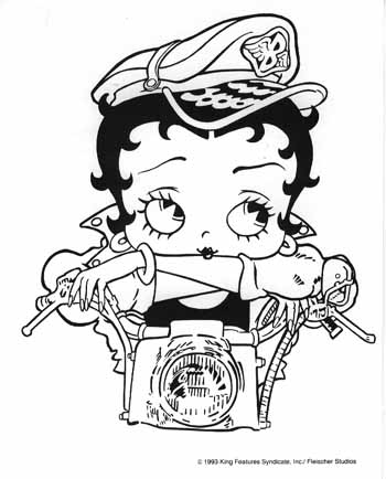 cartoons coloring pages betty boop coloring pages