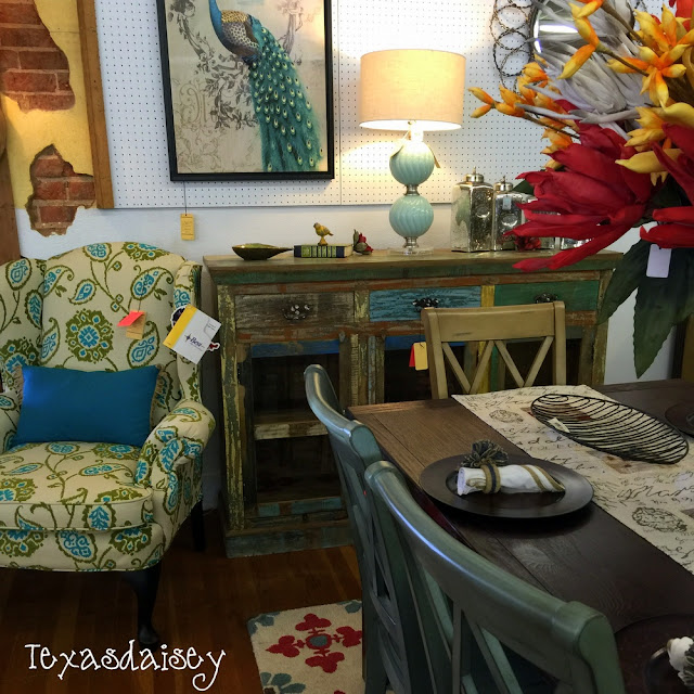 Look what I found at Gordon's Furniture, a rustic buffet and dining table