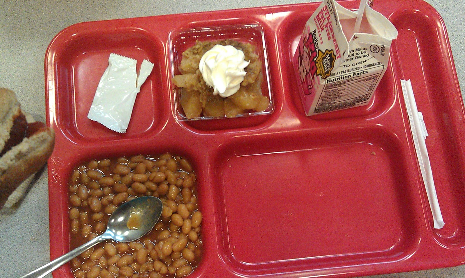 bad school lunch Let me tell you something, kids, school lunches have always been bad we just didn't have decent camera phones #thanksmichelleobama — bassey etim.