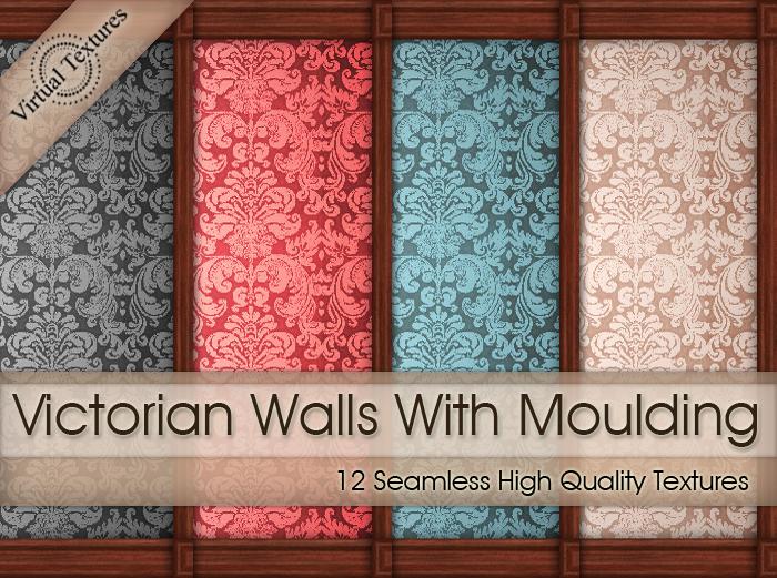 VICTORIAN WALLS WITH WOOD TRIMS & Virtual Textures: Victorian Walls
