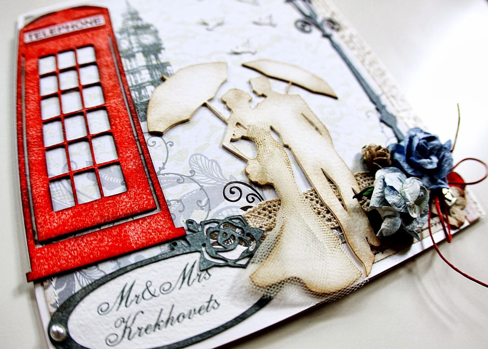 Оформление английской открытки