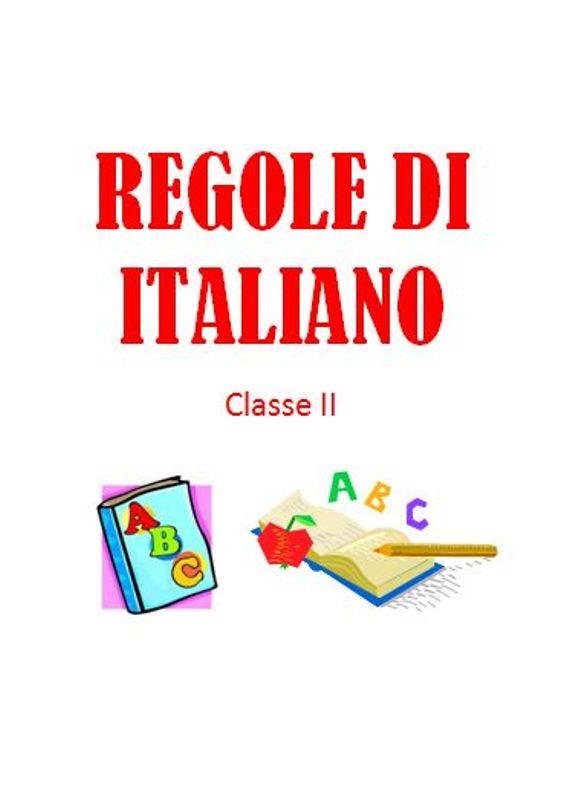 Top Studiamando liberamente: REGOLE DI ITALIANO - Classe II MF63