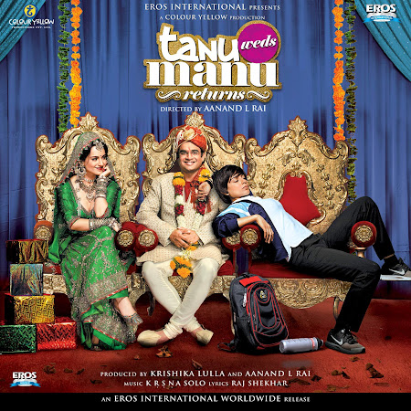 Poster Of Bollywood Movie Tanu Weds Manu Returns (2015) 125MB Compressed Small Size Mobile Movie Free Download