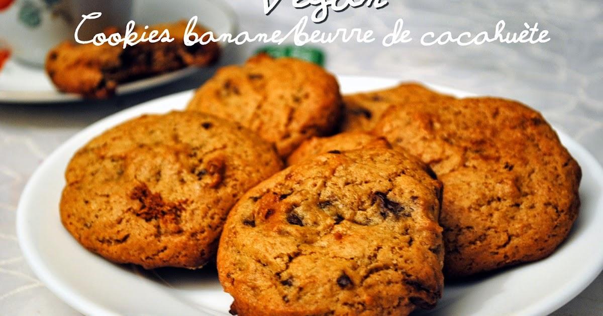cookies banane beurre de cacahu te vegan sabine oignons. Black Bedroom Furniture Sets. Home Design Ideas