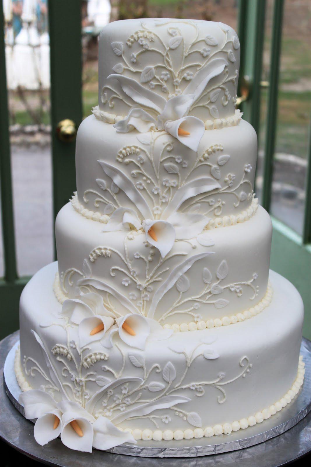 Layers of Love Royal Calla Lillies cake