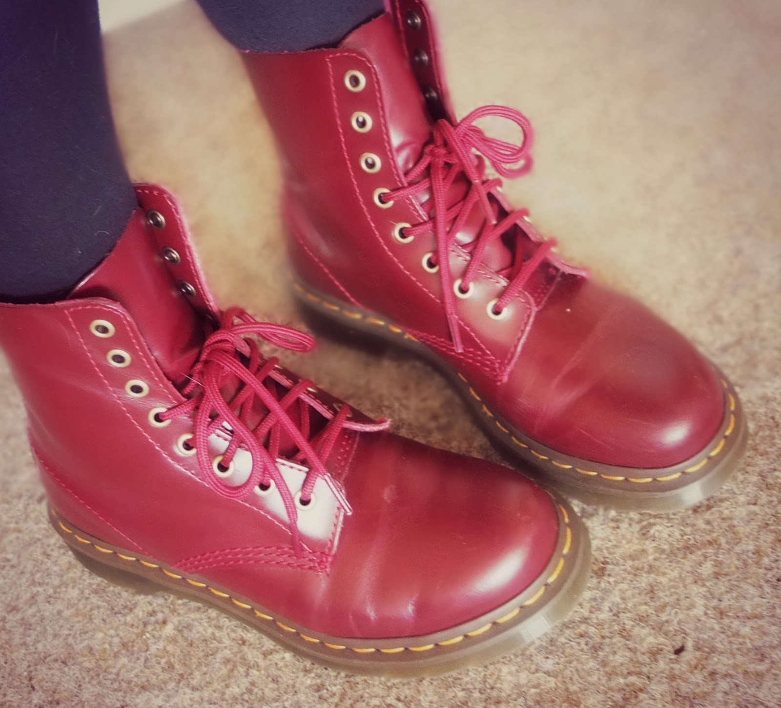 Dr Martin's Cherry Red Boots on Hello Terri Lowe UK Fashion Blog
