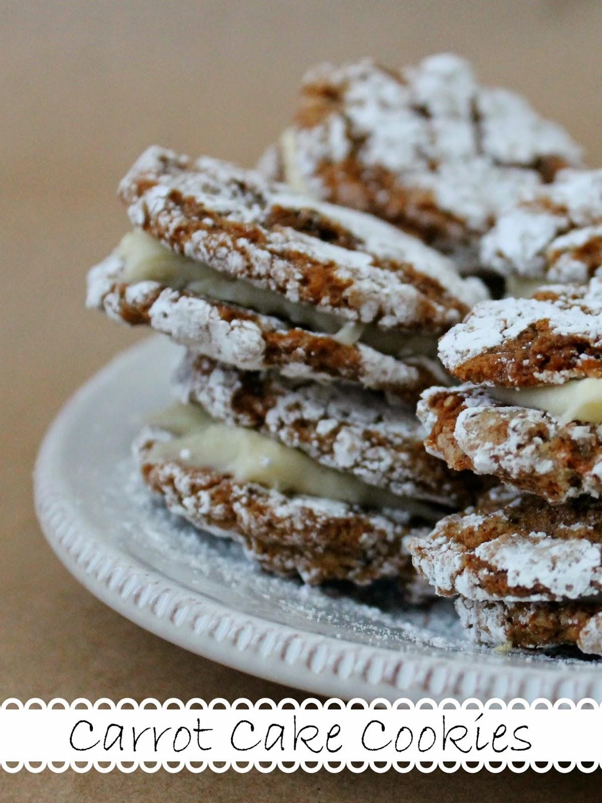 http://wonderfullymadebyleslie.blogspot.com/2014/04/carrot-cake-cookies.html