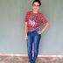 Meu look com camiseta xadrez de coruja