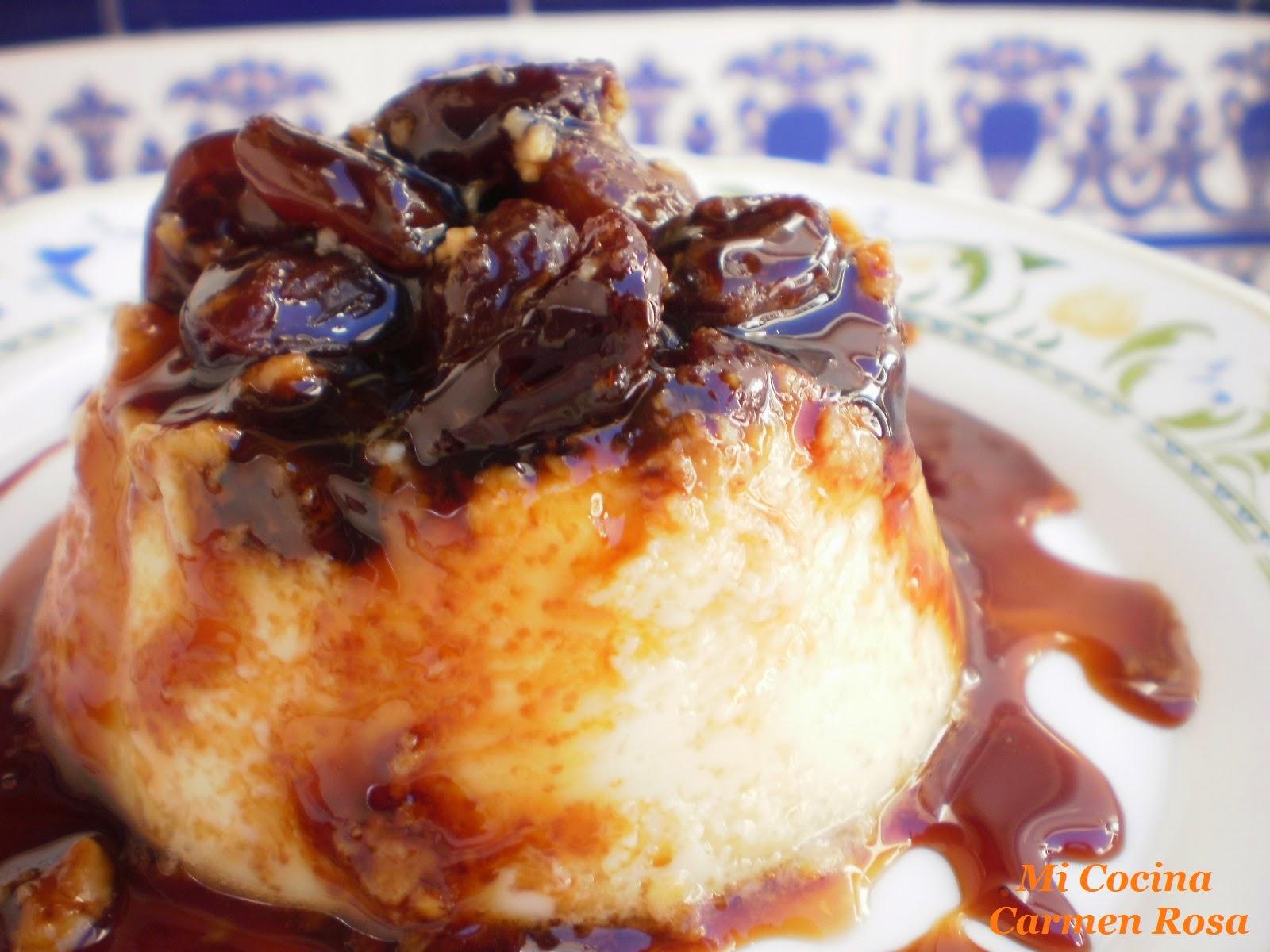 Mi cocina flan de huevo con vino moscatel y pasas de malaga for Mi cocina malaga