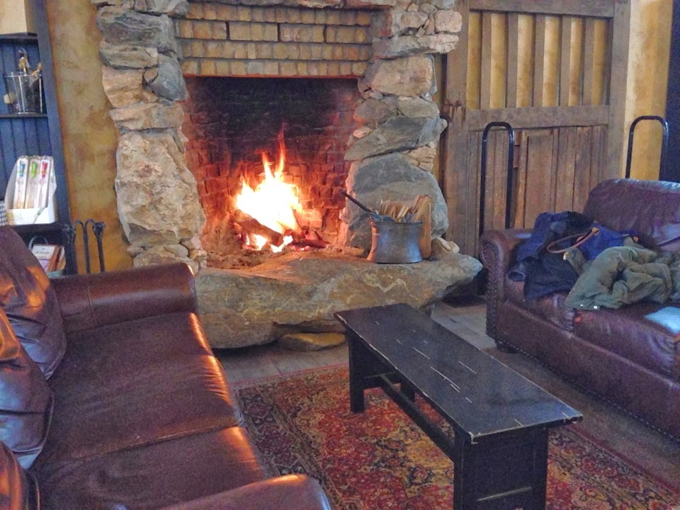 fireplace at barrel oak