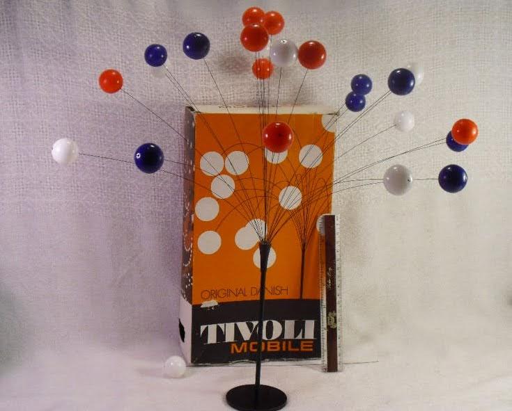 1950 39 s atomic ranch house danish modern tivoli atomic mobile and 1950 39 s pink birdcage - Mid century mobel ...