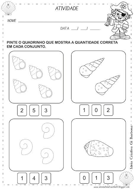 Atividade Matemática Educação Infantil Patati